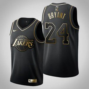 Women Lakers #24 Kobe Bryant Black Jersey